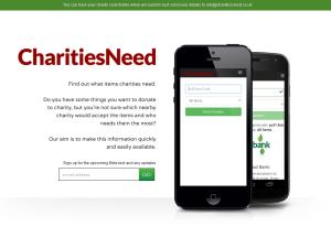 charitiesNeed landing